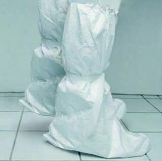 Návleky na boty, materiál Secutex pro, bílé, vysoké, stažené do gumy