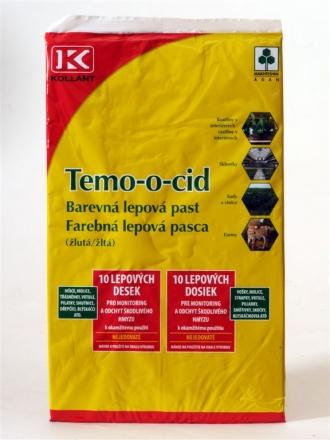TEMO-O-CID žlutá 10 kusů 40x25