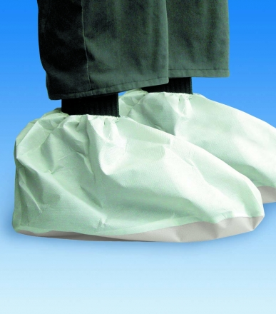 Návleky na boty s podešví, materiál Secutex pro, bílé, velikost podešve 38/14 cm, nízké provedení